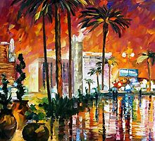 Las Vegas — Buy Now Link - www.etsy.com/listing/210179823 by Leonid  Afremov