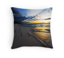 """Sunset Fronds"" - Home Island, Cocos (Keeling) Islands Throw Pillow"