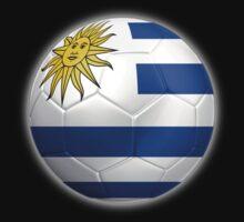 Uruguay - Uruguayan Flag - Football or Soccer 2 by graphix