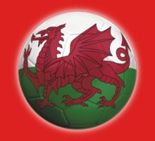 Wales - Welsh Flag - Football or Soccer 2 Baby Tee