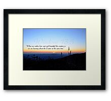 """""""Learning about the Creator"""" Framed Print"""