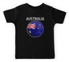 Australia - Australian Flag - Football or Soccer Ball & Text 2 Kids Tee
