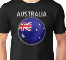 Australia - Australian Flag - Football or Soccer Ball & Text 2 Unisex T-Shirt