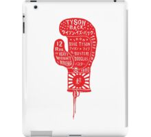 Boxing Glove Typography - Tyson is Back! iPad Case/Skin
