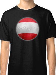 Austria - Austrian Flag - Football or Soccer 2 Classic T-Shirt