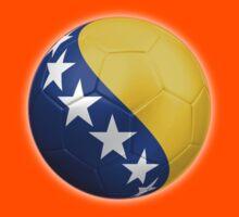 Bosnia and Herzegovina - Bosnian Flag - Football or Soccer 2 Kids Tee