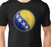 Bosnia and Herzegovina - Bosnian Flag - Football or Soccer 2 Unisex T-Shirt
