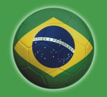 Brazil - Brazilian Flag - Football or Soccer 2 by graphix