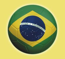 Brazil - Brazilian Flag - Football or Soccer 2 Kids Clothes