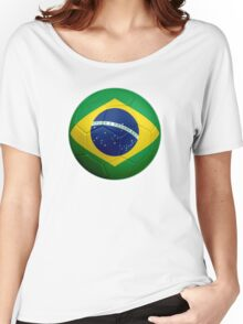 Brazil - Brazilian Flag - Football or Soccer 2 Women's Relaxed Fit T-Shirt