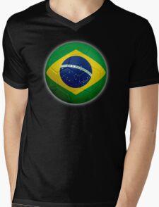 Brazil - Brazilian Flag - Football or Soccer 2 Mens V-Neck T-Shirt