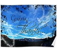 Giving Thanks Poster