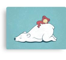 Polar nap Canvas Print