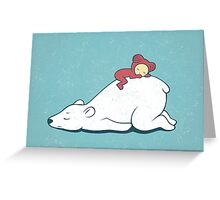 Polar nap Greeting Card