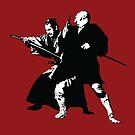 Yojimbo - Toshiro Mifune swordfight - Akira Kurosawa - Red Style  by Kelmo