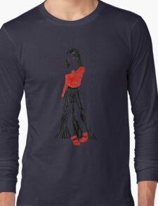 Girl in Dress Long Sleeve T-Shirt