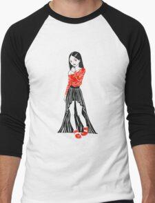 Girl in Dress Men's Baseball ¾ T-Shirt