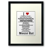 Parks and Recreation - I <3 Mouse Rat Framed Print
