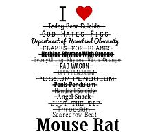 Parks and Recreation - I <3 Mouse Rat Photographic Print