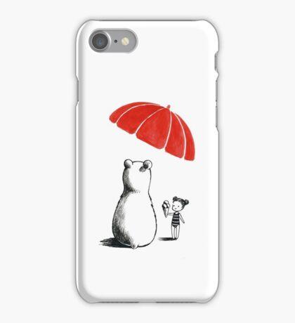 Polar bear at the beach iPhone Case/Skin