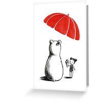 Polar bear at the beach Greeting Card