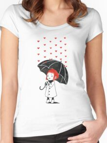 Love rain Women's Fitted Scoop T-Shirt