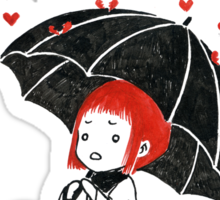 Love rain Sticker