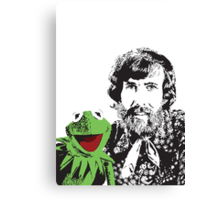 Jim Henson and Kermit - Master Puppeteer and Creative Genius Canvas Print