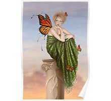 Sunrise Monarch Butterfly Fairy Poster