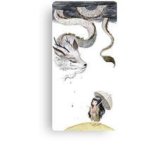 Rain dragon Canvas Print