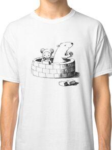 Girl and a polar bear building Classic T-Shirt