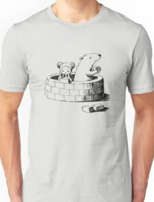 Girl and a polar bear building Unisex T-Shirt