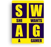 She Wants A Gamer Canvas Print