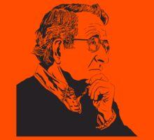 Noam Chomsky - Portrait Version - Great American Mind and Teacher Kids Clothes