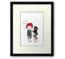 Boy and a fox Framed Print