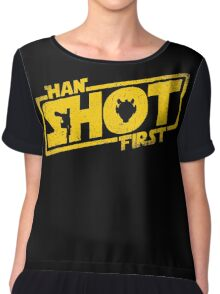 Han Shot First Chiffon Top