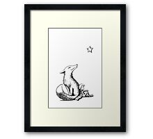 Boy and the fox Framed Print