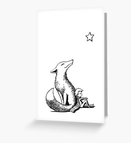 Boy and the fox Greeting Card