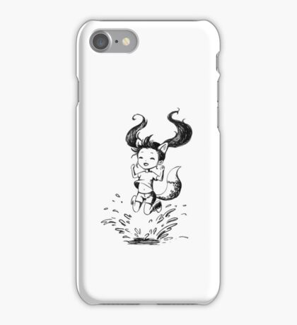 Girl in the puddle iPhone Case/Skin