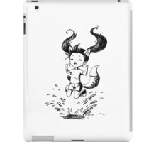 Girl in the puddle iPad Case/Skin