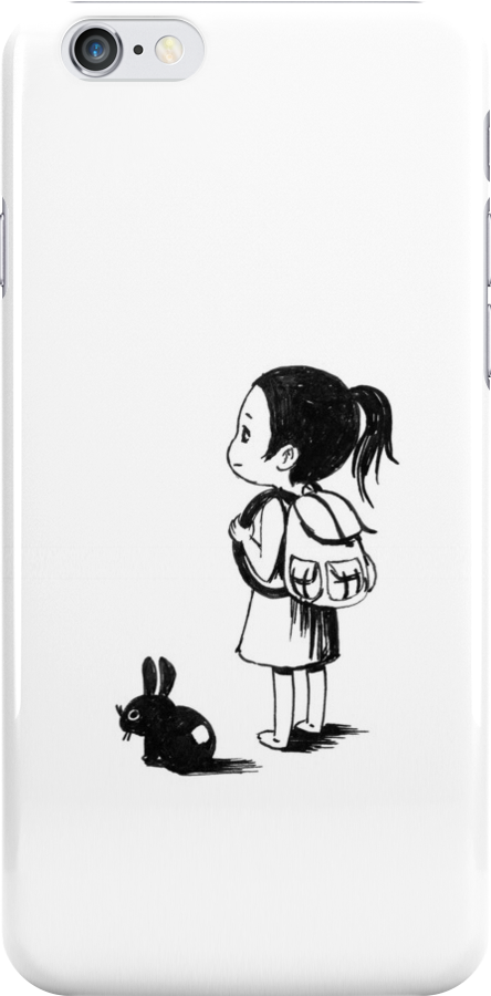 Girl and a rabbit by freeminds