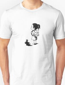 Girl and a rabbit Unisex T-Shirt