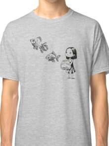 Girl and the fish Classic T-Shirt