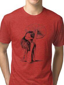 Girl under the mushroom Tri-blend T-Shirt