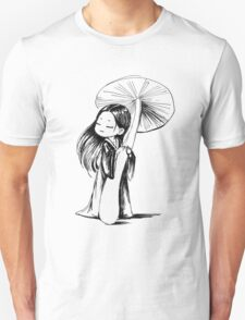 Girl under the mushroom Unisex T-Shirt
