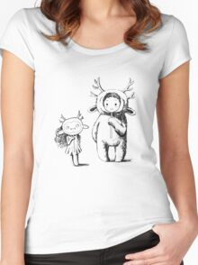 Girl and a monster Women's Fitted Scoop T-Shirt
