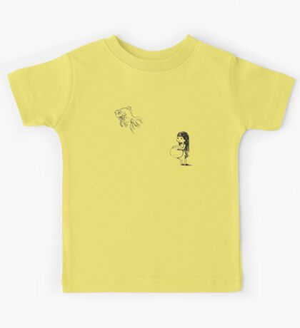 Girl and a fish Kids Tee