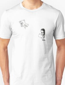 Girl and a fish Unisex T-Shirt