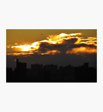 NYC sunset clouds Photographic Print