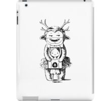 Girl and a monster iPad Case/Skin